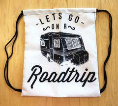 Tote Bag: Drawstring, Lets Go On A Roadtrip