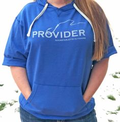 SALE 20% OFF, PROVIDER™ Fishing Logo Short Sleeve Hoodie, Relaxed Fit, Pullover