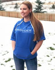 SALE 25% OFF PROVIDER™ Fishing Logo Short Sleeve Hoodie, Relaxed Fit Pullover