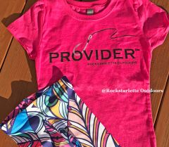 Youth PROVIDER™ T Shirt, Fishing Logo, Hot Pink or Blue, Girls Sizes