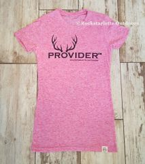 SALE 15% OFF, PROVIDER™ Crewneck Fitted T shirt, Heathered Pink