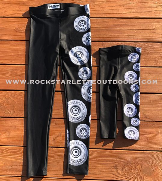 Youth Shotgun Logo Leggings, (2T-14)