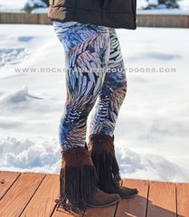 Turkey Feather Logo Leggings