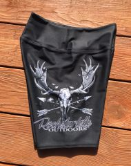 Moose / Archery Logo Athletic Shorts, Wide Yoga Waistband