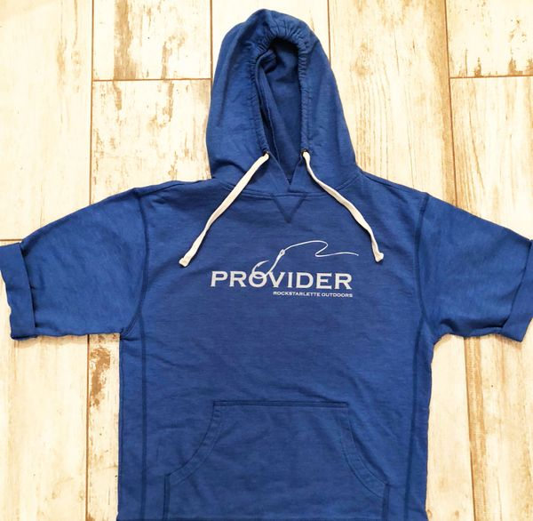 SALE 30% OFF PROVIDER™ Fishing Logo Short Sleeve Hoodie, Relaxed Fit Pullover