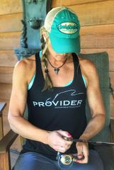 Fishing PROVIDER™ Racerback Tank Top, Relaxed Loose Fit Waist, Black, Mint or White, NEW!