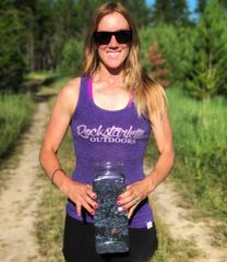 SALE 15% OFF, Heather Purple Rockstarlette Outdoors Logo Racerback Tank Top