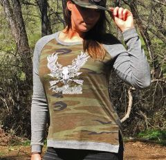 SALE: 65% OFF, Camo Colorblock Pullover Sweater, Loose fit, CLEARANCE