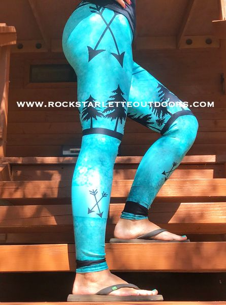 Arrow Leggings, Teal