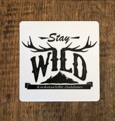 Stay Wild, Large Logo Stickers, 5x5 Inch, High Quality and Durable