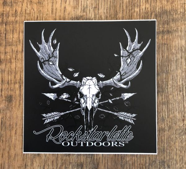 Rockstarlette Outdoors Large Moose Logo Stickers, 5x5 Inch, High Quality and Durable