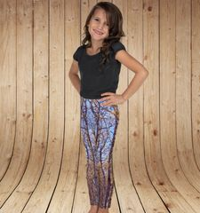 Youth Leggings, Fall Birch Tree Camo, (2T-14)