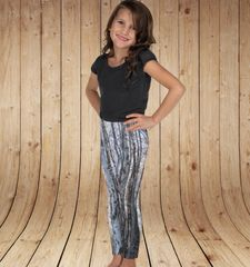 Youth Leggings, Birch Tree Pattern, Snow Camo, (2T-14) Made in the USA