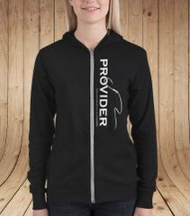 PROVIDER™ Fishing Logo Lightweight Zip Up Hoodie