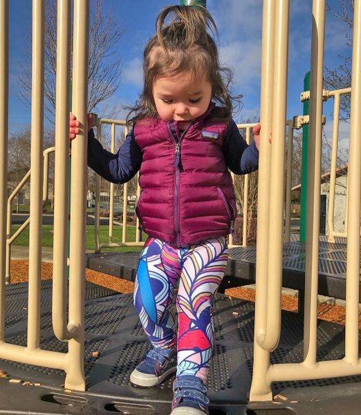Youth Bright Feather Design Leggings, 2T-14