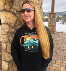I Love Adventure (and Coffee) Fleece Relaxed Pullover Hoodie, NEW! SUPER soft