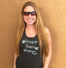 Encourage Inspire Empower, Relaxed Fit Muscle Tank Top, NEW!