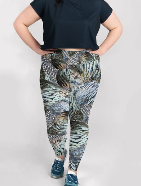 6846c80a5bc48 Turkey Feather Leggings, Women's Plus Size Rockstarlette Outdoors |  Rockstarlette Outdoors, Adventure Inspired Sportswear Made in USA