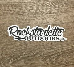 Rockstarlette Outdoors Logo Stickers, NEW, 7.5 x 2.1 Inch, High Quality and Durable