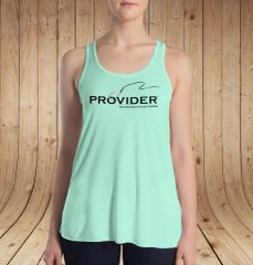 Fishing PROVIDER™ Racerback Tank Top, Relaxed Loose Fit Waist, White, Mint or Black, S-XXL