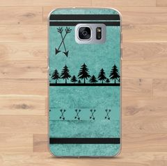 Teal Arrows, Cell Phone Cover, Samsung Galaxy Phone Cases (Choose Model)