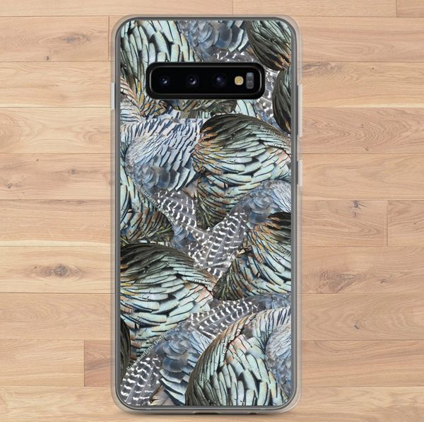 Turkey Feather Pattern, Cell Phone Case, Samsung Galaxy (Choose Model) FREE Shipping