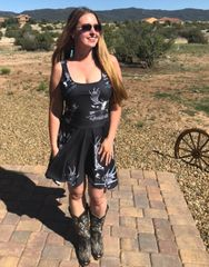 Sun Dress, Rockstarlette Outdoors Logo, Flared Skirt, NEW!