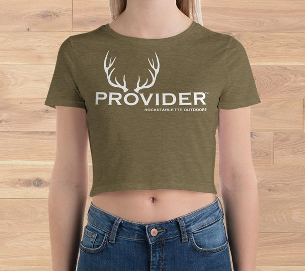 1cfdcc9017a Hunting Provider Crop Top T shirt, Rockstarlette Outdoors, Hunt |  Rockstarlette Outdoors, Adventure Inspired Sportswear Made in USA