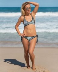 Reversible Bikini, Get Two Swimsuits in One, Turkey Feather Pattern and Tattoo Pattern, Made in the USA