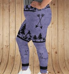 Arrow Leggings, Purple, Plus Size, Women's (2XL-5XL)