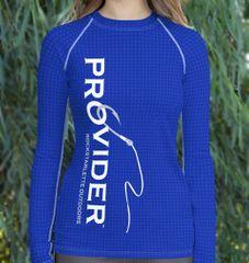 PROVIDER Fishing Logo Rash Guard Sun Shirt, 38-40 UPF, NEW! Long sleeve