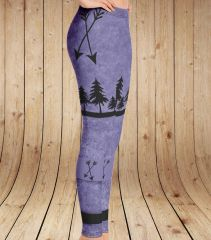 Arrow Leggings, Purple