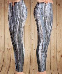 Birch Tree Leggings, Snow Birch Pattern