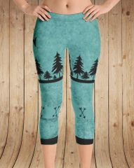 Arrow Leggings, Teal, CAPRI Version