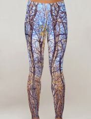 Birch Tree Leggings, Fall Birch Camo Pattern