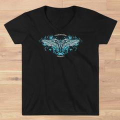 Handgun 2nd Amendment Logo V Neck T shirt, Relaxed Fit, Black