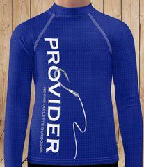 Youth - PROVIDER Fishing Logo Rash Guard Sun Shirt, 38-40 UPF, NEW! Long sleeve