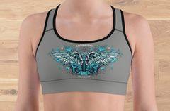Sports Bra/ Athletic Top, Handgun Logo, 2A, Moisture Wicking, Full Support