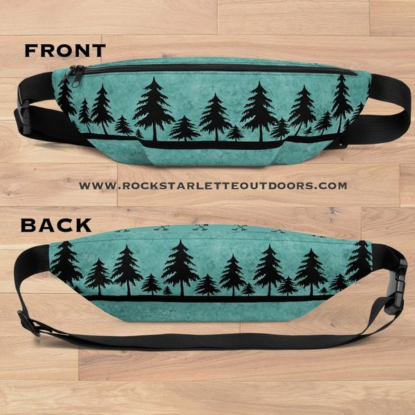 Teal Arrow Logo Belt Bag, Water Resistant