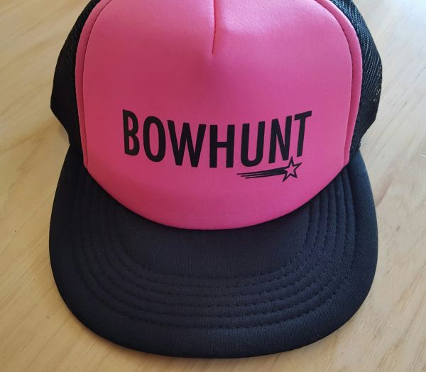 SALE 40% OFF, BOWHUNT, Hot Pink, Mesh Back Trucker Hat