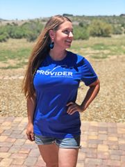 PROVIDER™ Fishing Logo T shirt, S-3XL, Hot Pink, Black, Royal Blue, Loose Fit Crewneck,