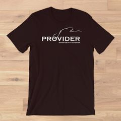 PROVIDER™ Fishing Logo T shirt, S-3XL, Royal Blue, Hot Pink, Black, Loose Fit Crewneck,