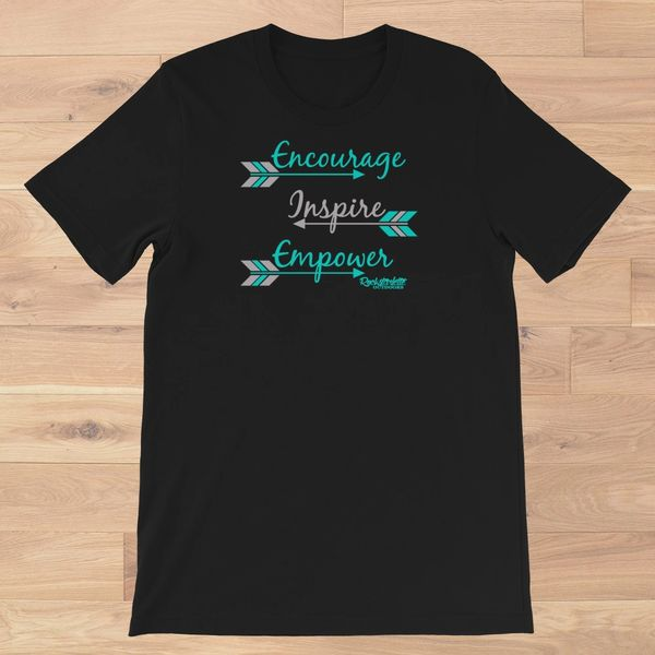 Encourage Inspire Empower Loose Fit Crewneck T Shirt, XS-3XL ( 0-20)