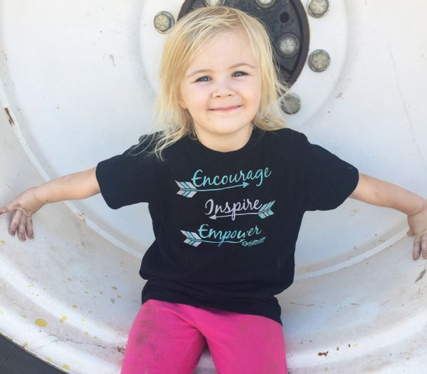 Youth Encourage. Inspire. Empower, T Shirt, Toddler and Girls Sizes