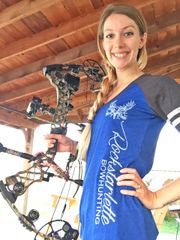 SALE 70% OFF, Blue Color Block T Shirt, Rockstarlette Bowhunting, Clearance