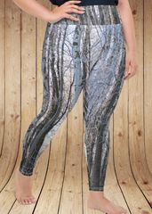 Birch Tree, Plus Size Leggings, Snow Birch (2XL-5XL)