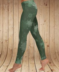 Snowflake Pattern Leggings, Limited Edition