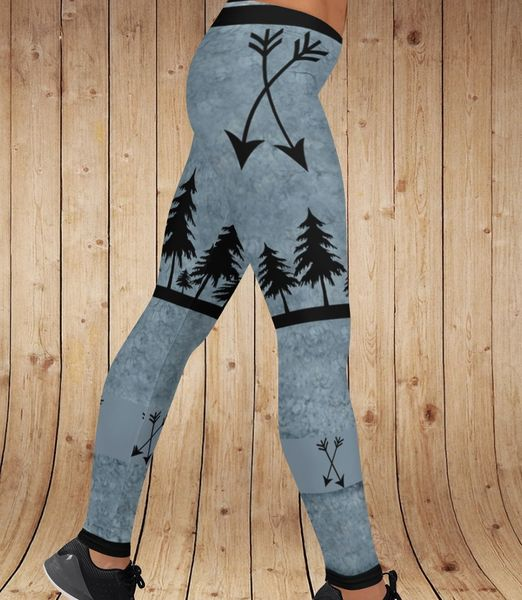 Arrow Leggings, Blue