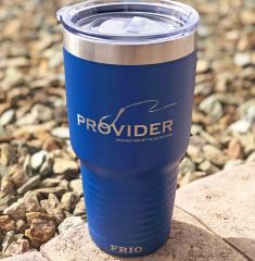 PROVIDER Fishing Logo Tumbler, Blue, 30oz