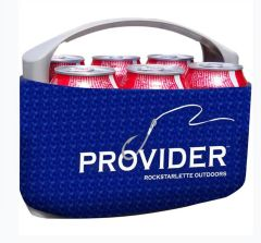 PROVIDER Fishing Logo 6 Pack Carrier, Freezer Pack Included, Cans or Bottles